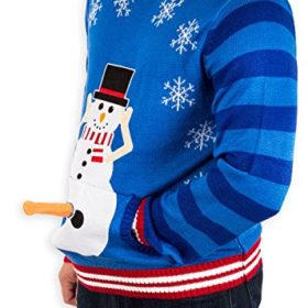 Excited Snowman Ugly Christmas Sweater
