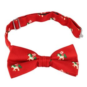 John-William-Santa-Riding-Unicorn-Christmas-Mens-Holiday-Pre-Tied-Bowtie-Funny-Ugly-Bow-Tie-Red-0-1