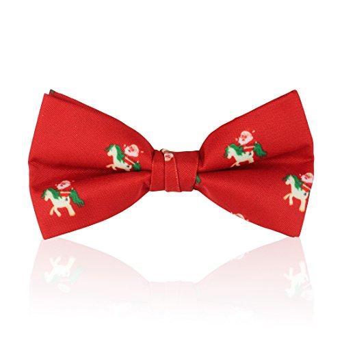 Santa Riding a Unicorn Christmas Bow Tie