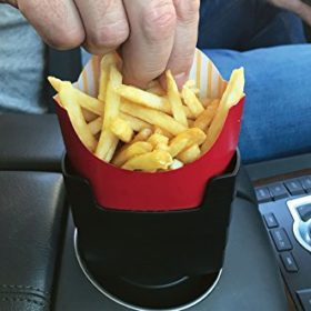 """Fries on the Fly"" Universal Car French Fry Holder"