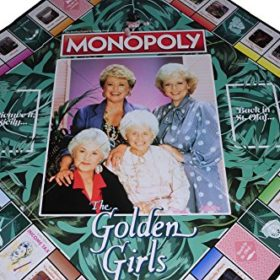MONOPOLY-The-Golden-Girls-Board-Game–Bonus-2-Gold-Metallic-Cloth-Drawstring-Pouches–Bundled-Items-0-0