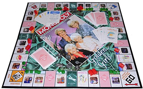 monopoly the golden girls board game bonus 2 gold metallic cloth drawstring pouches bundled. Black Bedroom Furniture Sets. Home Design Ideas