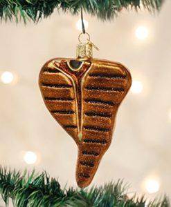 T-Bone Steak Glass Blown Ornament