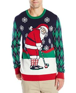 Golf Santa Ugly Christmas Sweater
