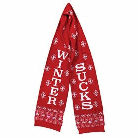 Unisex-Adult-Winter-Sucks-Scarf-Funny-Led-Light-Up-Red-Knit-Ugly-Sweater-Scarf-0-1