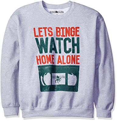 Home Alone Men's Lets Binge Watch Christmas Sweatshirt