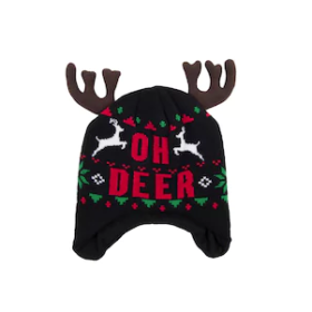 Oh Deer Christmas Beanie Hat with Ears