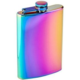 Rainbow Colored Flask