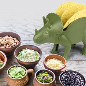 KidsFunwares-TriceraTACO-Taco-Holder-The-Ultimate-Prehistoric-Taco-Stand-for-Jurassic-Taco-Tuesdays-and-Dinosaur-Parties-Holds-2-Tacos-The-Perfect-Gift-for-Kids-and-Kidults-that-Love-Dinosaurs-0-2