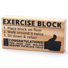 Exercise Block Joke Gag Gift