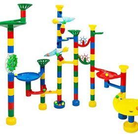Marble-Run-Maze-Ball-Game-85-Piece-Marble-Maze-STEM-Educational-Toys-for-Kids-Set-Includes-50-Marbles-0