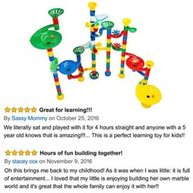 Marble-Run-Maze-Ball-Game-85-Piece-Marble-Maze-STEM-Educational-Toys-for-Kids-Set-Includes-50-Marbles-0-4
