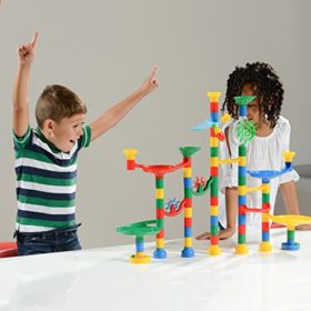 Marble-Run-Maze-Ball-Game-85-Piece-Marble-Maze-STEM-Educational-Toys-for-Kids-Set-Includes-50-Marbles-0-5